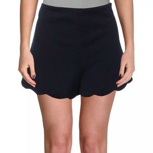 115. Necessary objects scalloped high rise shorts
